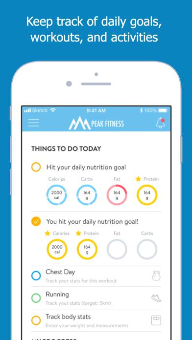 Screen Shot Peak Fitness App 5