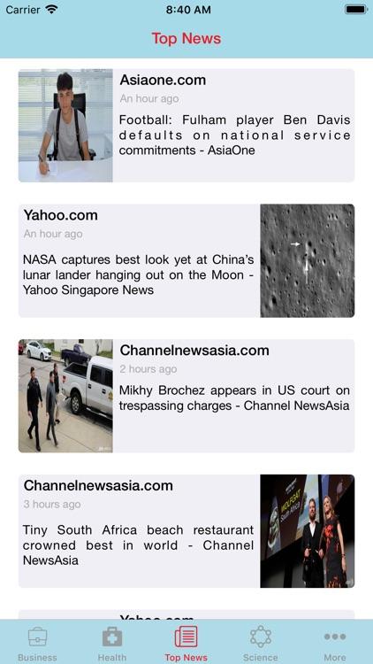 News of Singapore