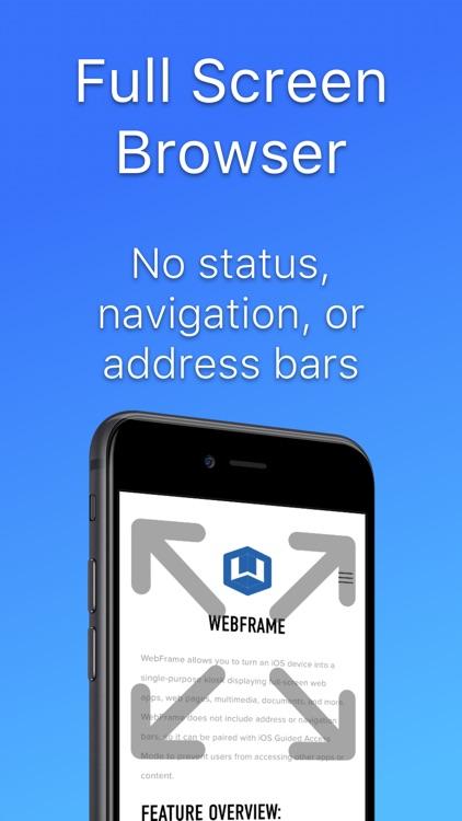WebFrame Kiosk