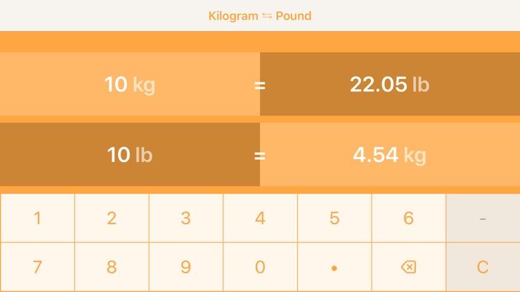 Kilograms To Pounds screenshot-4
