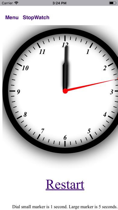 StopWatch Clock - BA.net screenshot two