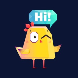 Yellow Chicken Fun Stickers IM