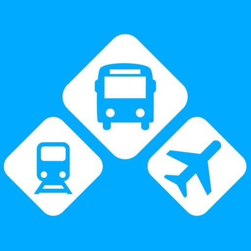 INFOBUS: Bus, train, flight