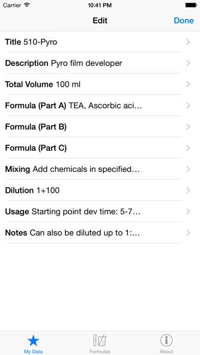 Download Darkroom Formulas for Android