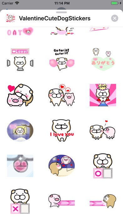 Screenshot for Valentine Cute Dog Stickers in United States App Store