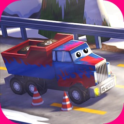 A Little Truck in Action Free: 3D Camion Driving Game with Funny Cars for Kids