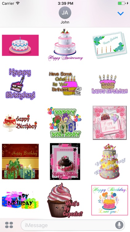 Birthday Cake GIF Stickers
