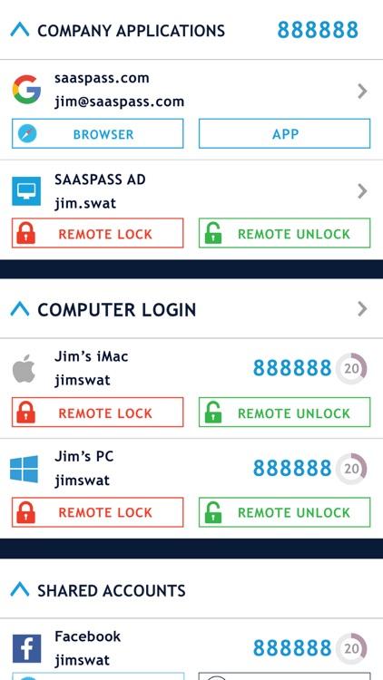 SAASPASS Authenticator 2FA MFA screenshot-3
