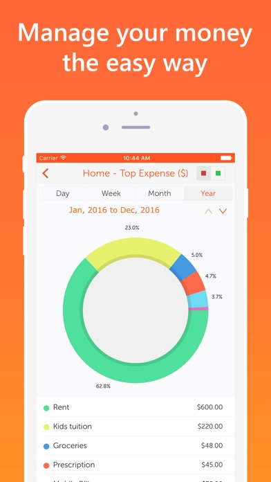 Screenshot #1 pour Easy Spending, Expense tracker