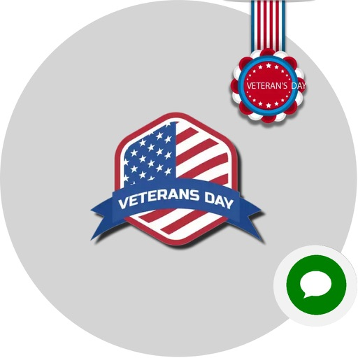 Veterans Day Wishes Stickers icon