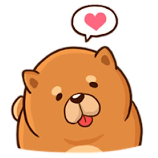 Cute Chow Chow Dog Sticker