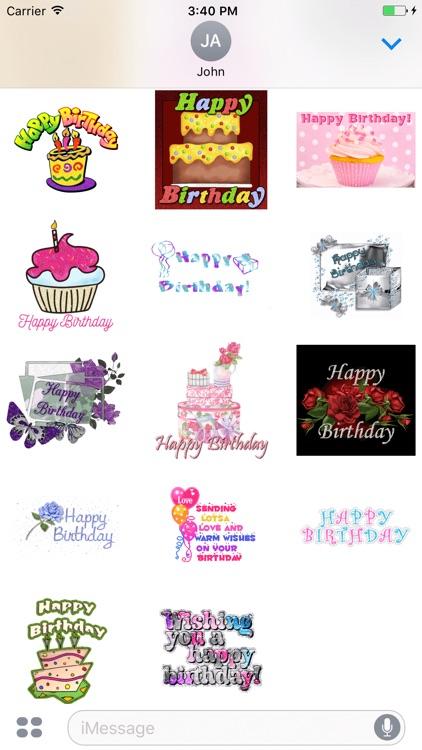 Birthday Cake GIF Stickers screenshot-3