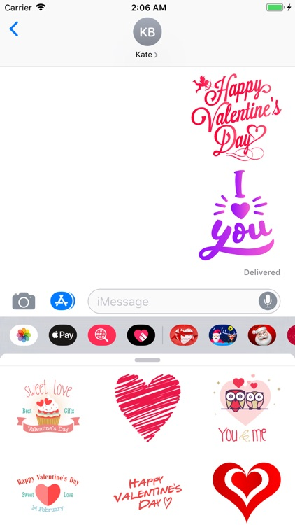 Valentines Day Text Stickers