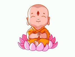 If you like baby buddha, you must try this funny cute baby buddha emoji stickers