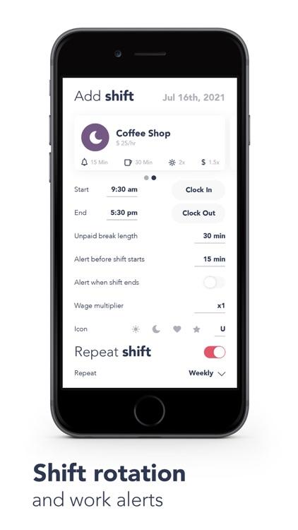 WorkTime: Work Shift Calendar screenshot-4