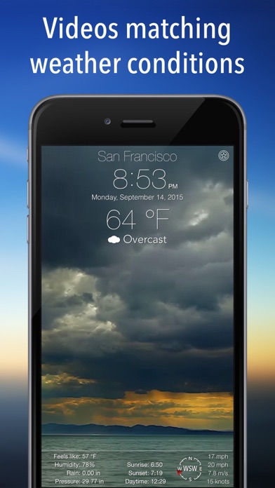 Screenshot for Living Weather HD + in United States App Store