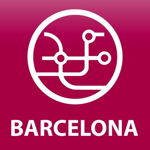 Public transport map Barcelona