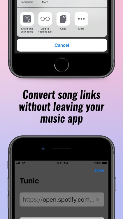 Tunic: Convert music links