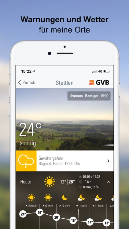Wetter-Alarm: für die Schweiz screenshot-0