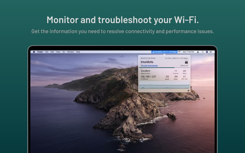 WiFi Signal: Status Monitor Screenshots