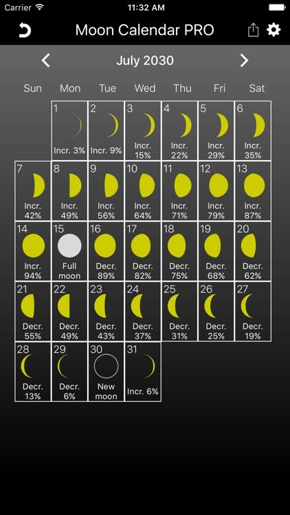 The Moon Calendar PRO screenshot-3