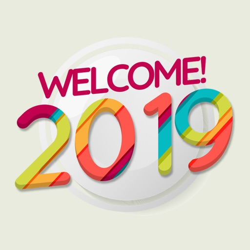 Welcome Year 2019 Stickers