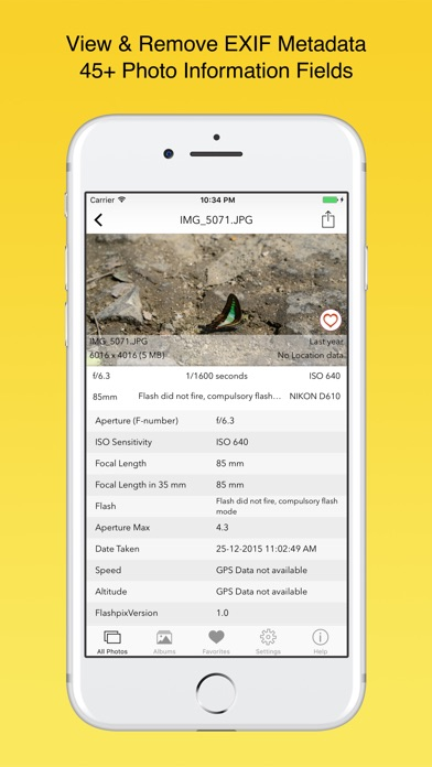 Screenshot #7 for EXIF Viewer by Fluntro