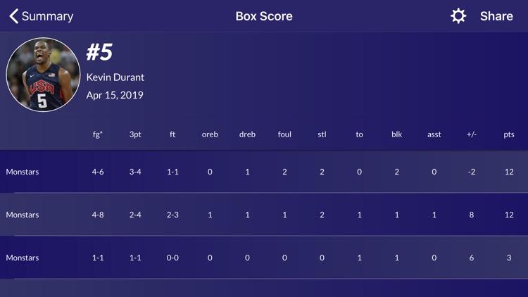 Easy Stats for Basketball screenshot-7