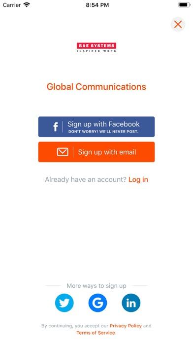 Global Communications Events screenshot three