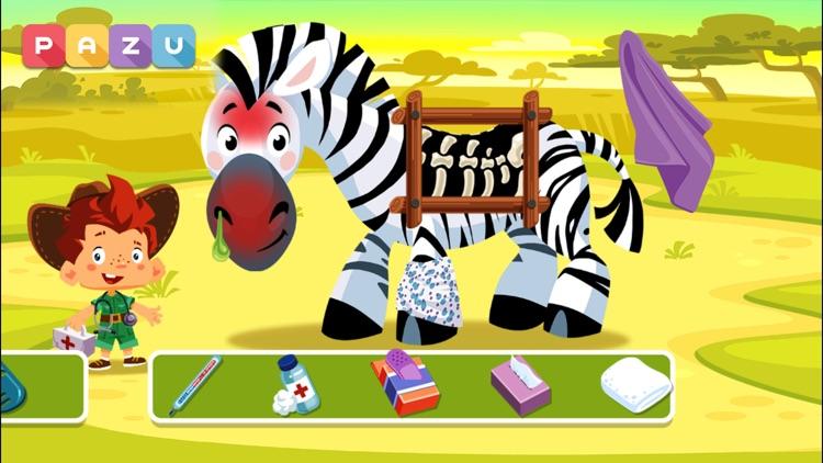 Safari Vet Care games for kids screenshot-3
