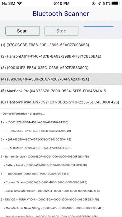 Ultra Bluetooth Scanner screenshot 2