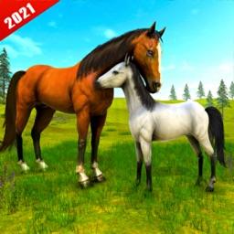 Wild Horse Family Survival 3D