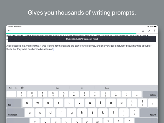 Prompts for Writing Screenshots