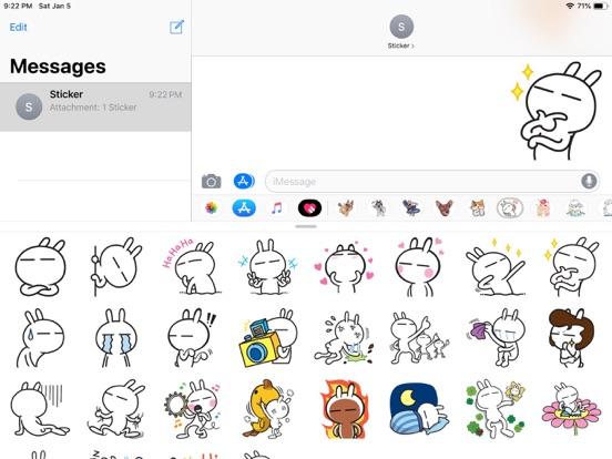 Rabbit Funny Emoji Stickers screenshot 6
