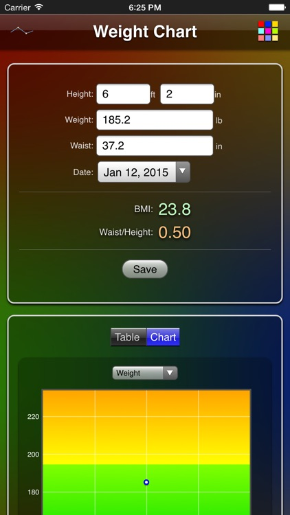 Weight Chart screenshot-0