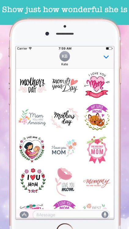 Cute Mother's Day Stickers