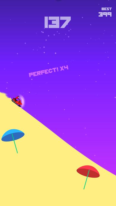 Backflip mountain music game Screenshot