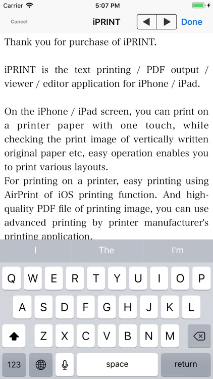 iPRINT - Text Printing