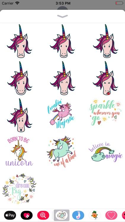 Magical Unicorn Stickers screenshot-3