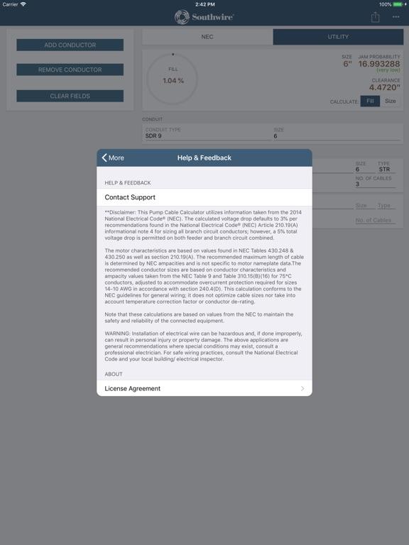 Screenshot 3 For Southwire Conduit Fill Calc