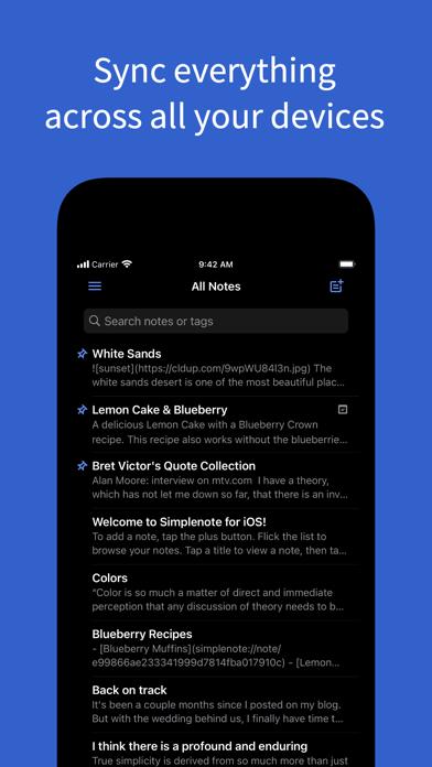Simplenote – Notes and Todos ScreenShot1