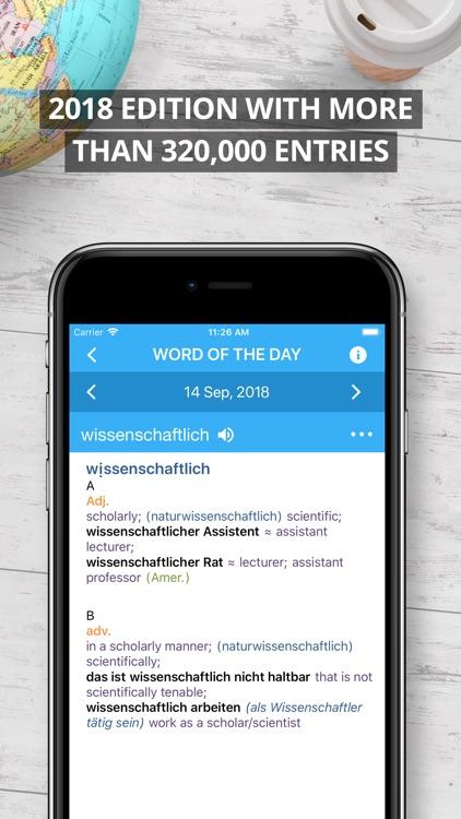 Oxford German Dictionary 2018 screenshot-0