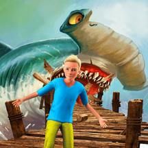 筏 生存 : 鲨鱼 钓鱼