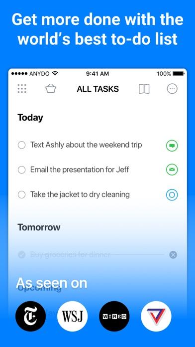 Any.do: To-do list & Calendar Screenshot on iOS