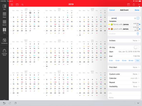 WeekCal iPad - Fully Unlocked iPad app afbeelding 3