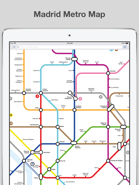 Subway Map For Madrid.Madrid Metro Map And Routes App Price Drops