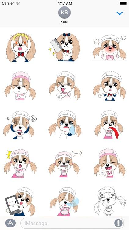Lovely Shih Tzu Dog Stickers