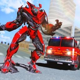 Fire Truck Fighter Robot Fight