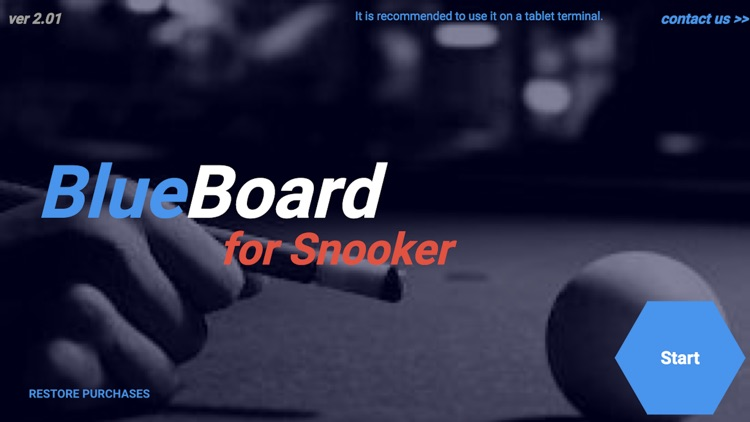 Blue Board for Snooker