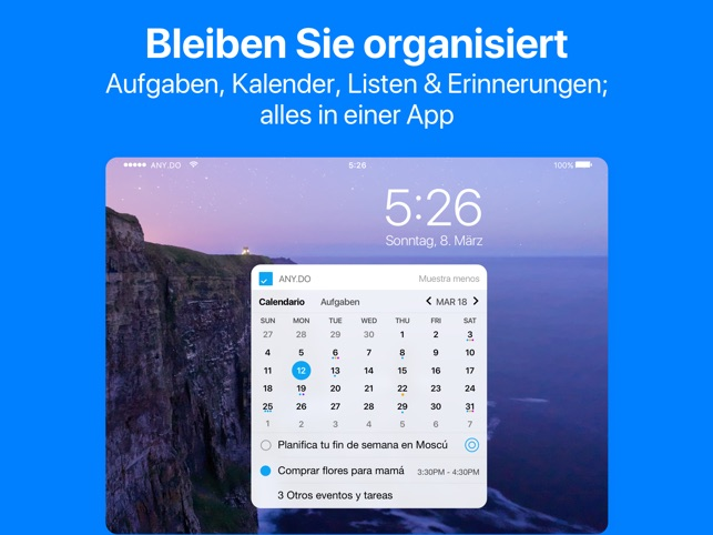 Any.do: Aufgabenliste Kalender Screenshot